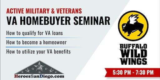 San Diego Military and Veterans VA Homebuyer Seminar / Workshop
