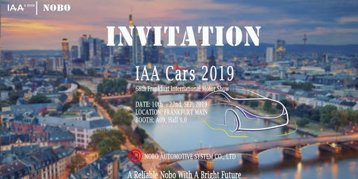 IAA Cars 2019 - 68th Frankfurt International Motor Show