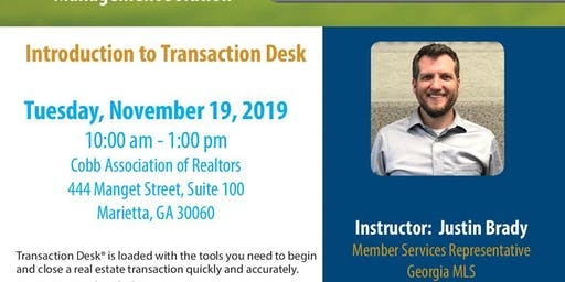 Introduction to Transaction Desk (3HR CE)
