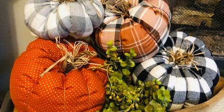 DIY Fabric Pumpkins tickets