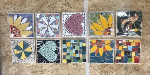 Mosaic Workshop with @judyjamjarmosaics