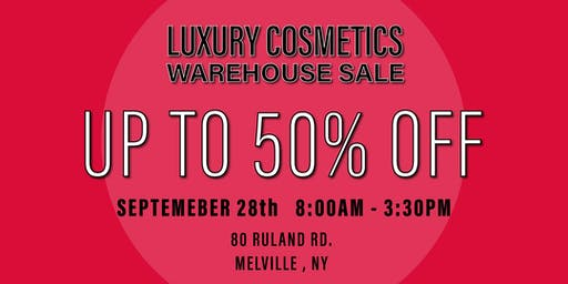 Special Invitation Warehouse Sale - SEPTEMBER 28, 2019