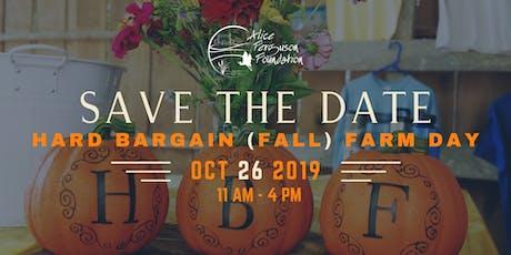 Hard Bargain Fall Farm Day tickets