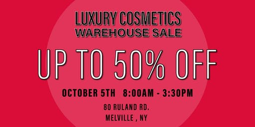 Special Invitation Warehouse Sale - OCTOBER 5TH