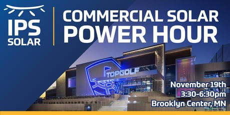 IPS Solar - Commercial Solar Power Hour at TopGolf Minneapolis tickets