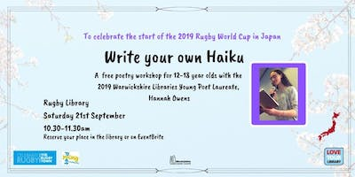 Write Your Own Haiku workshop at Rugby Library