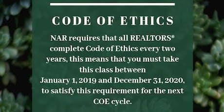 Code of Ethics tickets