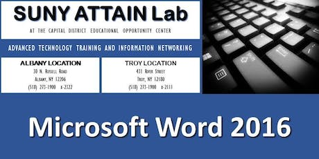 Microsoft Word 2016 Certification Training - Evenings (Troy, NY) tickets