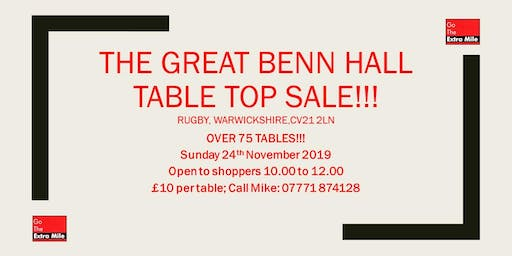 The Great Benn Table Top Sale!