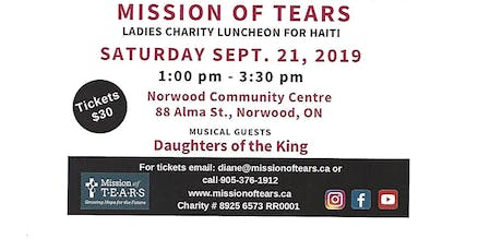 Mission of TEARS ladies Charity Luncheon for Haiti tickets