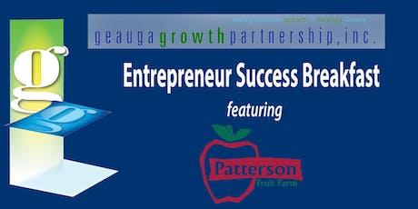 GGP Entrepreneur Success Breakfast - Patterson Family Fruit Farm tickets