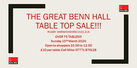 The Great Benn Table Top Sale! tickets