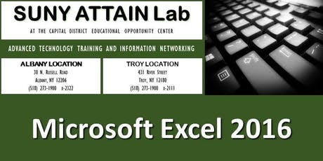Microsoft Excel 2016 Certification Training (Albany, NY) tickets