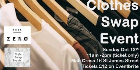 Style Swap Events X Shop Zero - Clothes Swap Event at the Malt Cross tickets