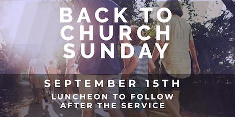 Back to Church Sunday tickets