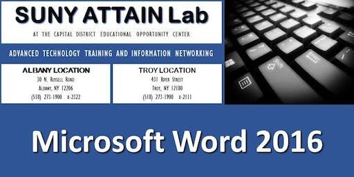 Microsoft Word 2016 Certification Training (Albany, NY)