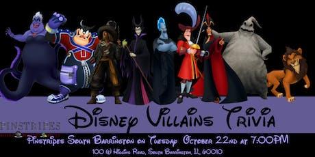 Disney Villains Trivia at Pinstripes South Barrington tickets