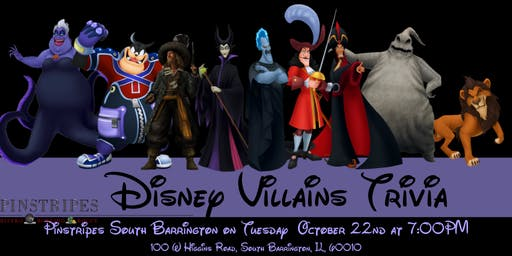 Disney Villains Trivia at Pinstripes South Barrington
