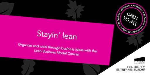 Stayin' lean