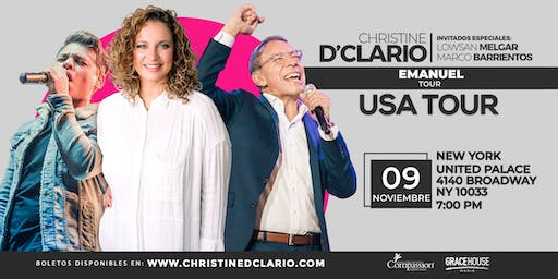 NewYorkNY- Christine D'Clario, Marco Barrientos - Emanuel USA Tour 2019