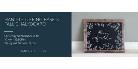 Hand Lettering Basics | Fall Chalkboard Sign with Janelle Letters tickets