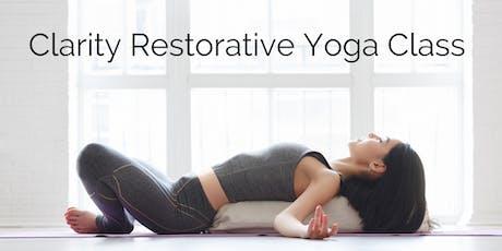 Clarity Restorative Yoga  tickets