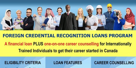 Foreign Credential Recognition Loans Program - Information Session tickets