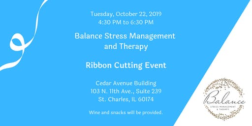 Balance Stress Management and Therapy - St. Charles Office Ribbon Cutting