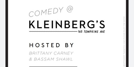 Comedy at Kleinbergs: September tickets