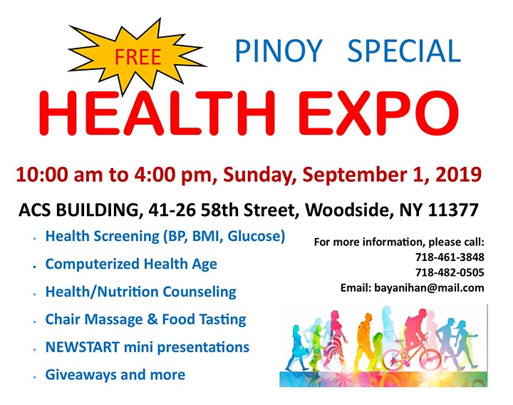 Free HEALTH EXPO - Pinoy Special image