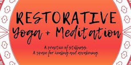Restorative Yoga & Meditation - Free Session Avail. tickets