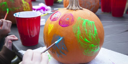 Kid's Pumpkin Painting
