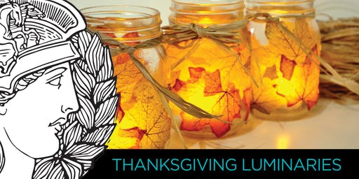 THANKSGIVING LUMINAIRE CRAFT WORKSHOP