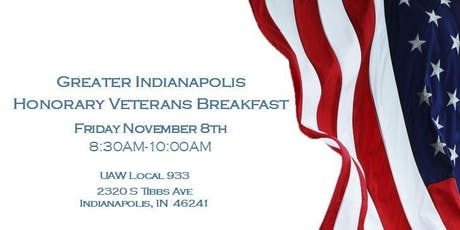 Greater Indianapolis Honorary Veterans Breakfast tickets