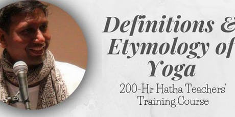 Etymology & Definations of Yoga tickets
