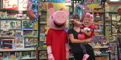 Peppa Pig flies in from London