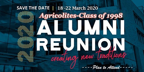 Unical Agricolites '98 -Reunion 2020 tickets