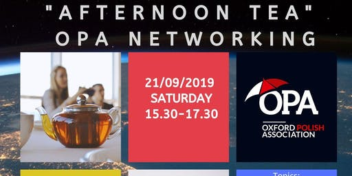 """Afternoon tea - OPA networking - let's talk about """"Settled Status"""""""