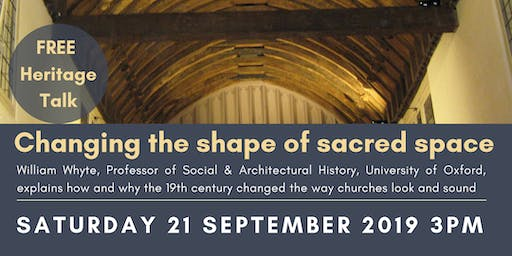 Changing the shape of sacred space: talk by Professor William Whyte
