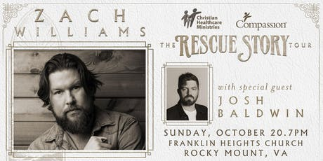 VOLUNTEER - Zach Williams - Rocky Mount, VA - 10/20/19 tickets
