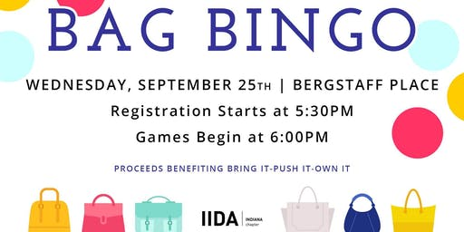 BAG BINGO to benefit Bring It! Push It! Own It!