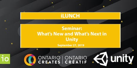 iLunch - Seminar: What's New and What's Next in Unity tickets