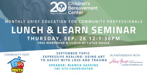 CBC Lunch & Learn Seminar: Expressive Healing - Using Art to Assist with Loss & Trauma