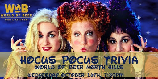 Hocus Pocus Trivia at World of Beer North Hills