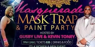 Masquerade Mask Trap N Paint Party