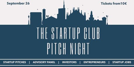 STARTUP CLUB PITCH NIGHT tickets