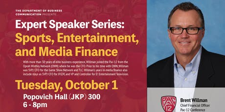 Sports, Entertainment, and Media Finance with Brett Willman, Pac-12 tickets