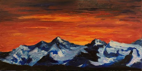 Rocky Mountain Sunset Acrylic Painting Class $38 9/18 tickets