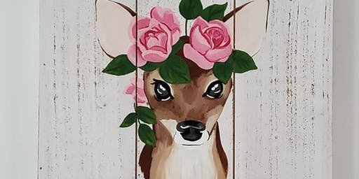 Doe w/ flowers Painting Event