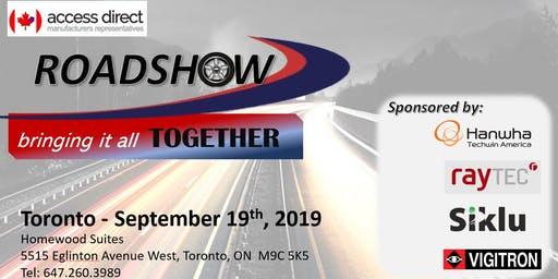 Access Direct Roadshow Toronto - September 19, 2019    8am - 12:30pm